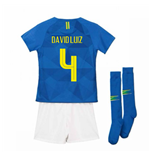 2018-2019 Brazil Away Nike Little Boys Mini Kit (David Luiz 4)