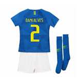 2018-2019 Brazil Away Nike Little Boys Mini Kit (Dani Alves 2)