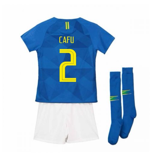 2018-2019 Brazil Away Nike Little Boys Mini Kit (Cafu 2)