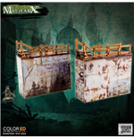 Malifaux ColorED Miniature Gaming Model Kit 32 mm Quarantine Zone - Simple Walls