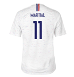 2018-2019 France Away Nike Football Shirt (Martial 11) - Kids