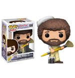 The Joy of Painting POP! Television Vinyl Figure Bob Ross with Paintbrush 9 cm