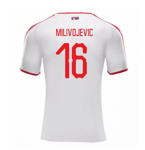2018-2019 Serbia Away Puma Football Shirt (Milivojevic 16)