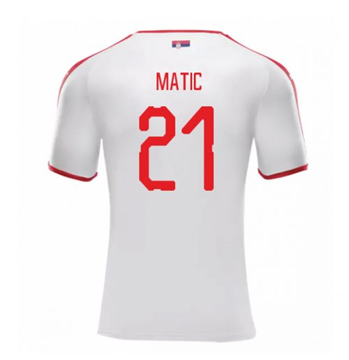2018-2019 Serbia Away Puma Football Shirt (Matic 21)