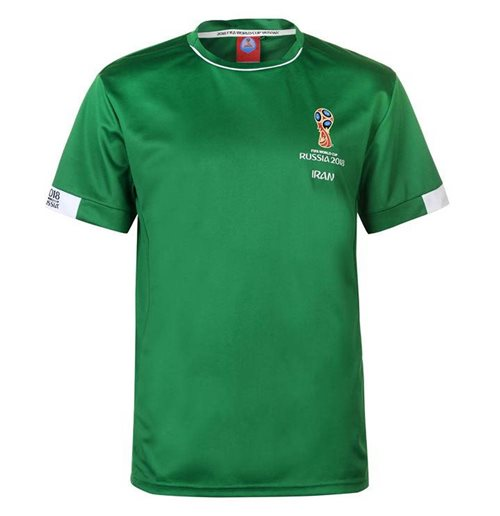 Iran FIFA World Cup 2018 Poly T Shirt Mens (Green)