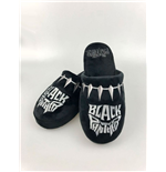 Black Panther Slippers Logo
