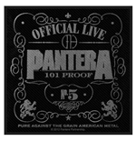 Pantera Standard Patch: 101% Proof (Packed)