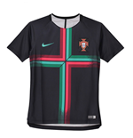 2018-2019 Portugal Nike Pre-Match Training Shirt (Black) - Kids