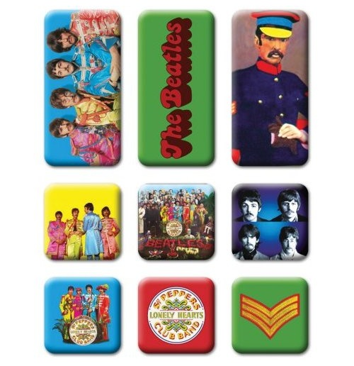 The Beatles Fridge Magnet Set: Sgt Pepper