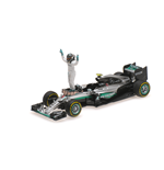 MERCEDES W07 HYBRID NICO ROSBERG WITH FIGURINE WORLD CHAMPION F1 2016
