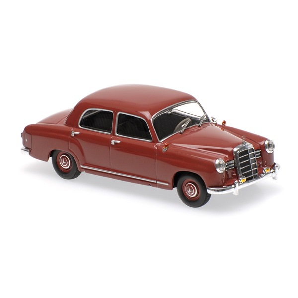 Mercedes benz 180 w120 dark red 1955 for only at for Plaza mercedes benz