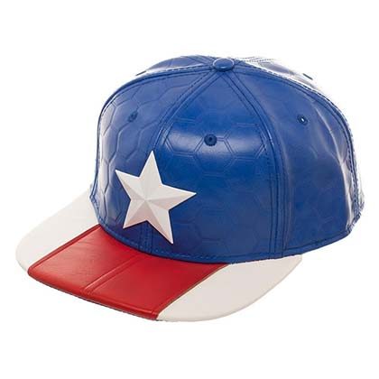 CAPTAIN AMERICA Suit Up Faux Leather Men's Hat