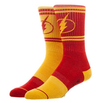 The FLASH Logo Flipped Colors Men's Crew Socks