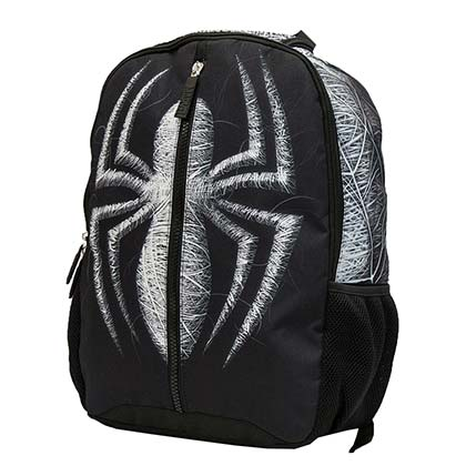 Spider-Man Black Center Zip Backpack