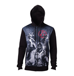 ASSASSIN'S CREED Male Live by the Creed Core Full Length Zipped Hoodie, Extra Large, Black
