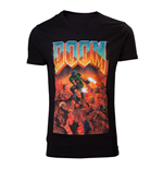 DOOM Male Classic Box Art T-Shirt, Small, Black