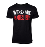 DISNEY The Incredibles 2 Male We Are Incredible T-Shirt, Small, Black