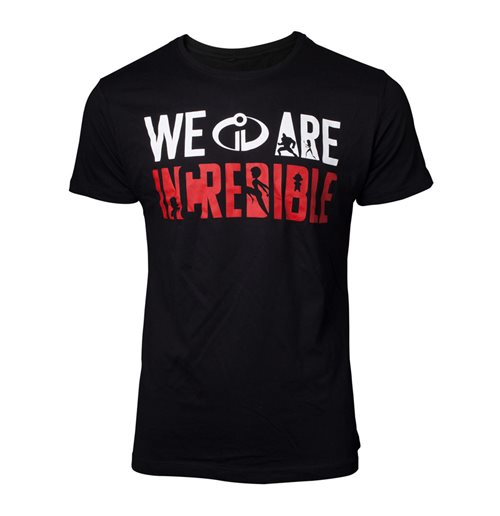 DISNEY The Incredibles 2 Male We Are Incredible T-Shirt, Medium, Black