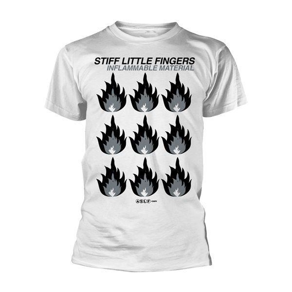 Stiff Little Fingers T-shirt Inflammable Material (WHITE)
