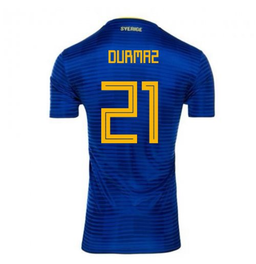 2018-2019 Sweden Away Adidas Football Shirt (Durmaz 21)