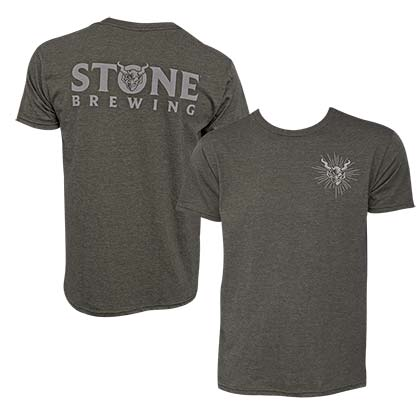 Stone Brewing Devil Logo Olive Green Men's Tee Shirt