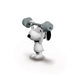 Peanuts Figure Weightlifter Snoopy 6 cm