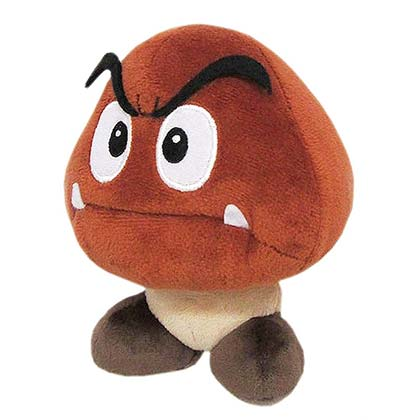 Nintendo Super MARIO Bros. Goomba 6 Inch Plush Doll Toy
