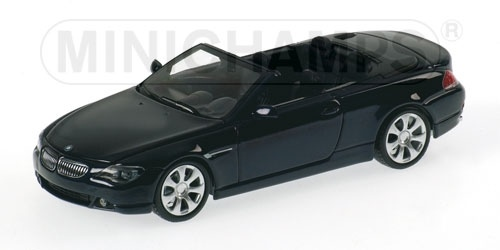 BMW SERIE 6 CABRIOLET 2006 BLUE METALLIC