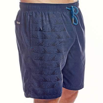 LANDSHARK Ghost Print Color Changing Blue Men's Boardshorts Swimsuit