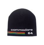 COMMODORE 64 Embroidered Logo Cuffless Beanie, Black