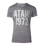 ATARI Male Vintage Atari 1972 T-Shirt, Small, Grey