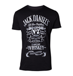 JACK DANIEL'S Male Old Advertising T-Shirt, Medium, Black
