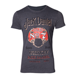 JACK DANIEL'S Male Old Advertising T-Shirt, Extra Large, Grey
