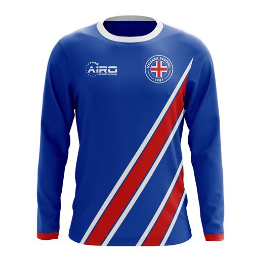2018-2019 Iceland Long Sleeve Home Concept Football Shirt
