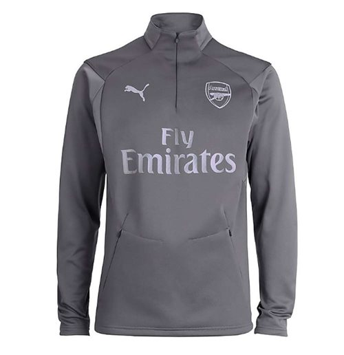 2018-2019 Arsenal Puma Training Fleece (Grey)