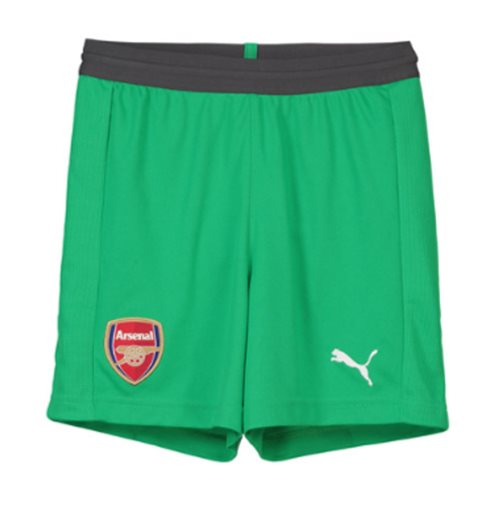 2018-2019 Arsenal Away Goalkeeper Shorts (Green) - Kids