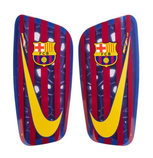 2018-2019 Barcelona Nike Mercurial Lite Shinpads (Red-Blue)