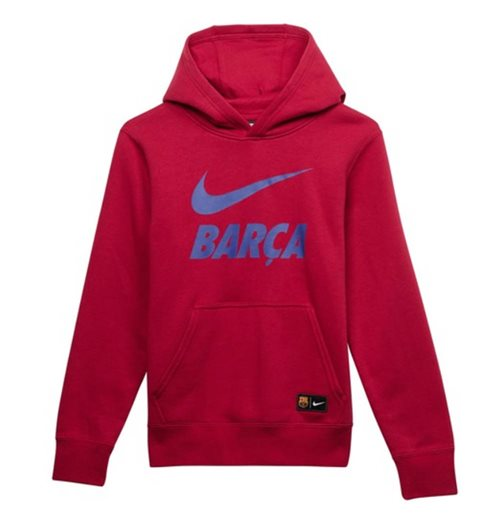 2018-2019 Barcelona Nike Core Hoody (Red) - Kids