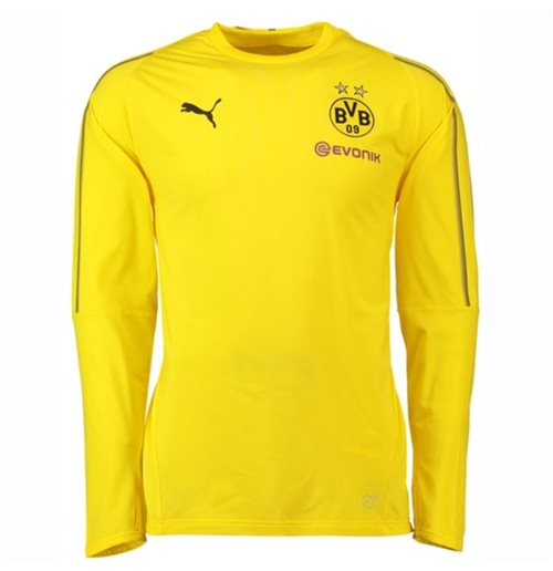 2018-2019 Borussia Dortmund Puma Training Sweat Top (Yellow) - Kids