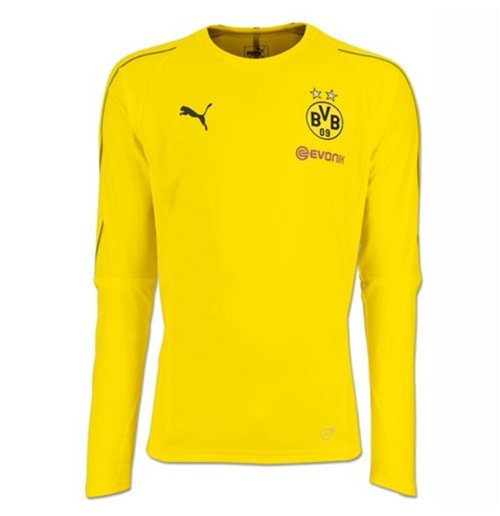 2018-2019 Borussia Dortmund Puma Long Sleeve Training Shirt (Yellow)