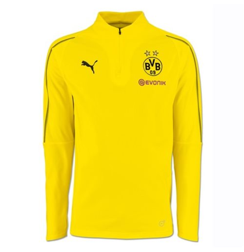 2018-2019 Borussia Dortmund Puma Half Zip Training Top (Yellow) - Kids