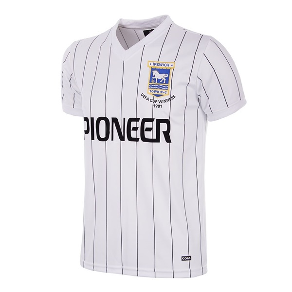 Ipswich Town FC Away 1981 - 82 Short Sleeve Retro Football Shirt