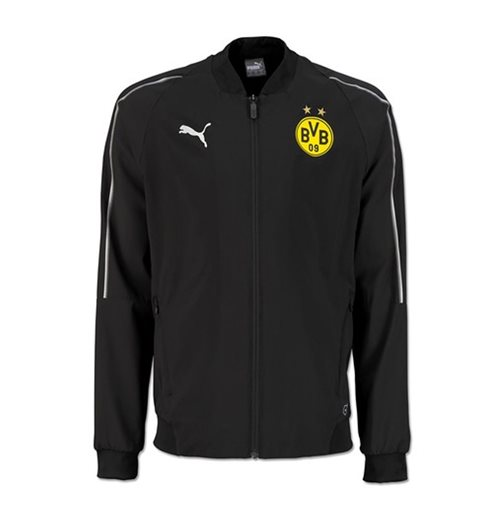 2018-2019 Borussia Dortmund Puma Leisure Jacket (Black) - Kids