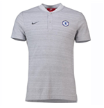 2018-2019 Chelsea Nike Authentic Grand Slam Polo Shirt (Wolf Grey)