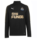 2018-2019 Newcastle Puma Quarter Zip Training Top (Black)