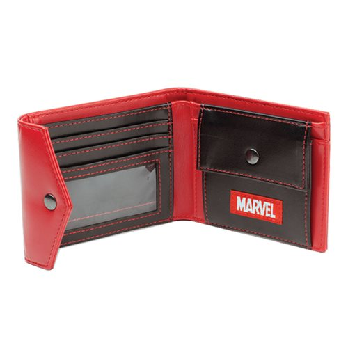 MARVEL COMICS Deadpool Face Tri-fold Wallet, Red/Black