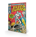 Silver Surfer Print on wood 308673