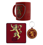 Game of Thrones Mug Coaster and Keychain - Lannister