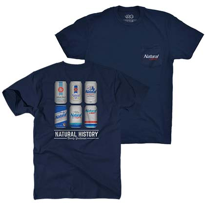 Natty Light Natural History Rowdy Gentleman Navy Blue Men's TShirt