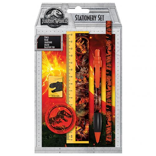 Jurassic World 5pc Stationery Set